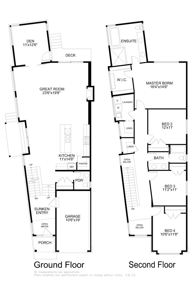 Floor plans - Arterra Custom Homes