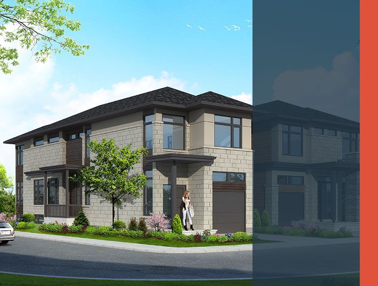 Custom home rendering - Arterra Custom Homes